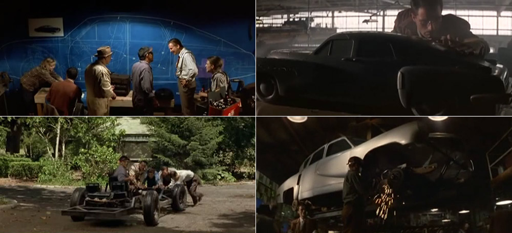Preston Tucker, Alex Tremulis and others - Tucker car design process in movie - Blueprint, aerodynamics, prototype