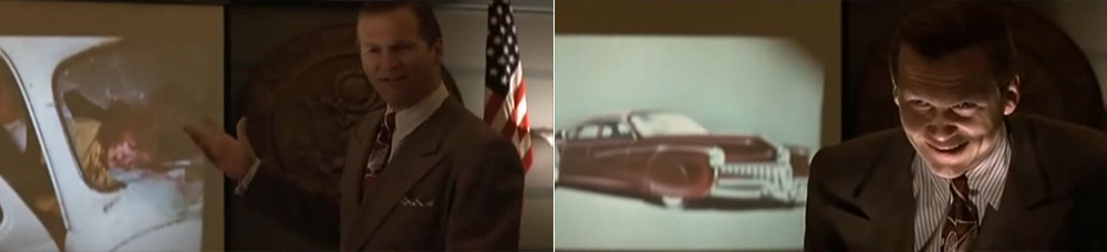 Jeff Bridges as Preston Tucker during safety presentation