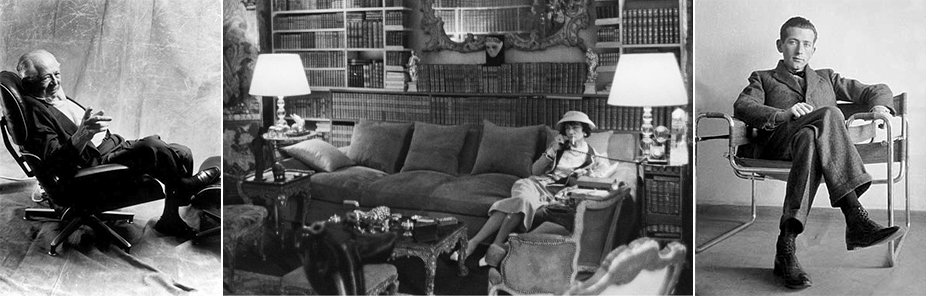 Billy Wilder On Eames Lounge Chair   Coco Chanel In Apartment By Mark Shaw  For LIFE